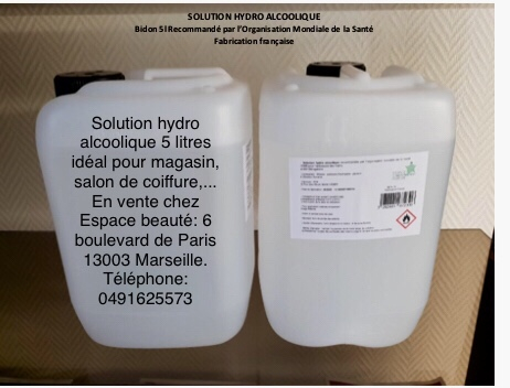 Solution hydro alcoolique 5 litres